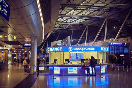 Currency Exchange in Airport
