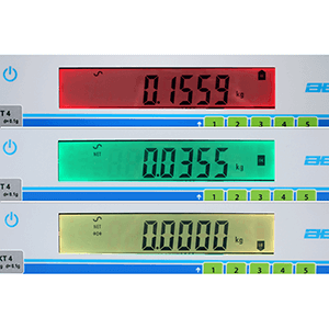 Coloured Backlit Checkweighing Display