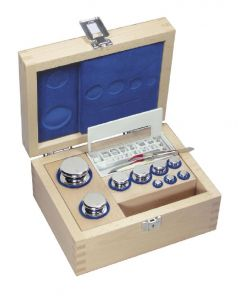 F1 Class Stainless Steel Weight Set in Wooden Box