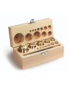 Kern F1 Class Calibration Test Weight Nickel-plated and polished Brass Wooden Box Sets
