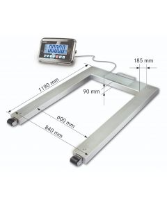 UFN Kern Approved Stainless Steel Pallet Scale