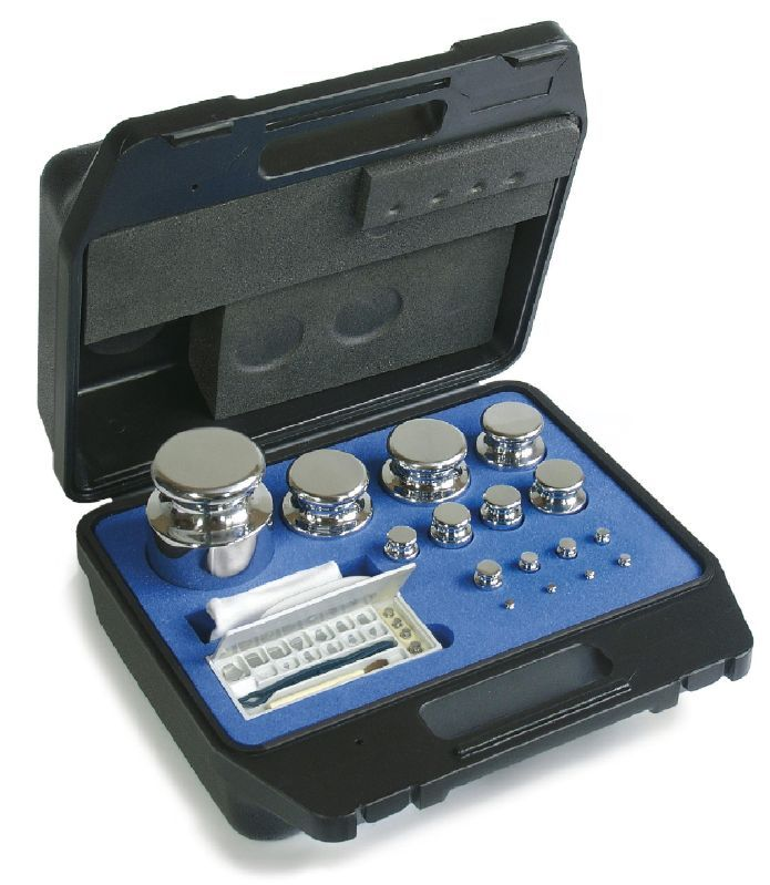 F1 Class Calibration Test Weight Polished Stainless Steel Box Sets