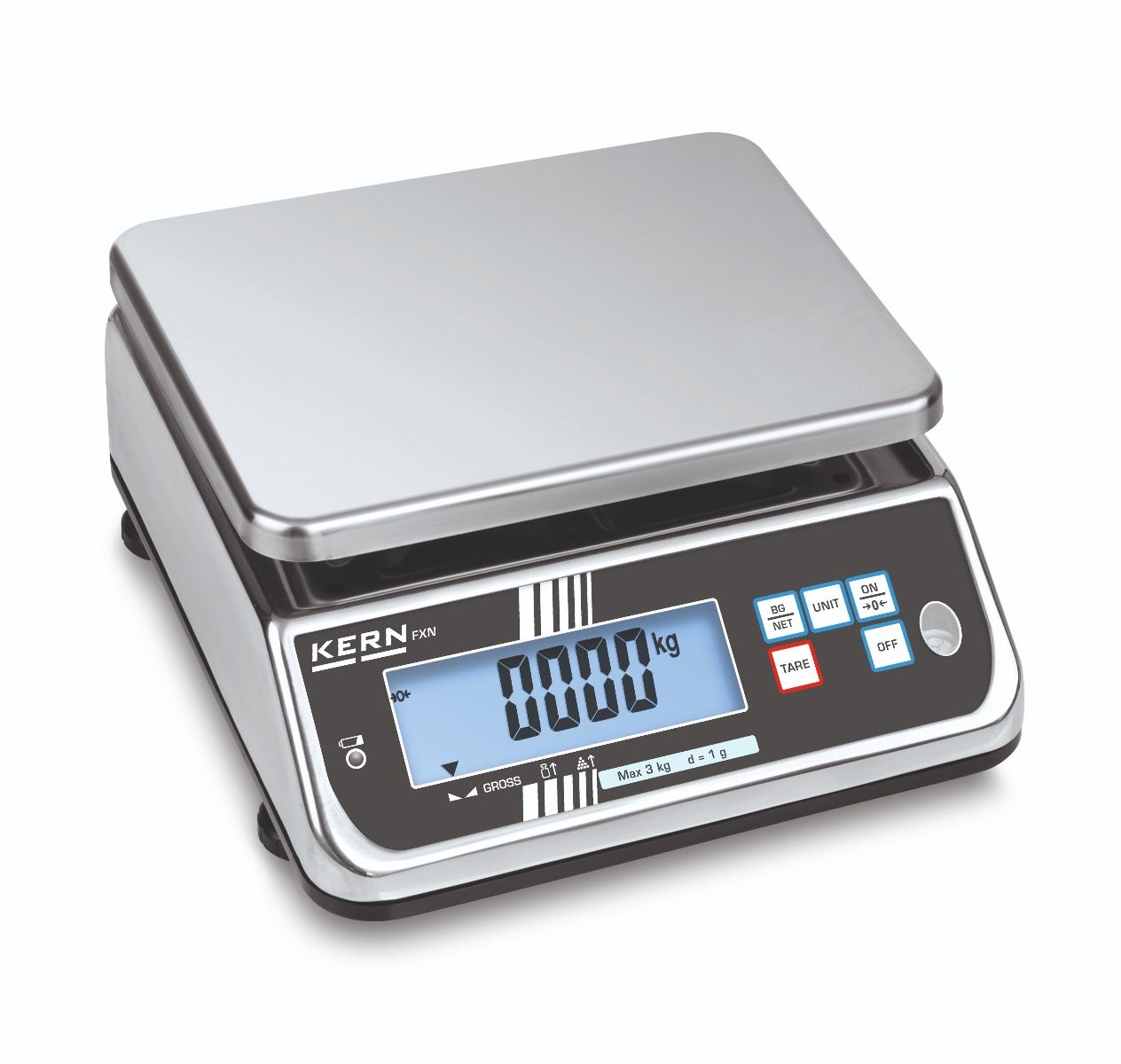 Kern FXN Approved Stainless Steel IP68 Bench Scale
