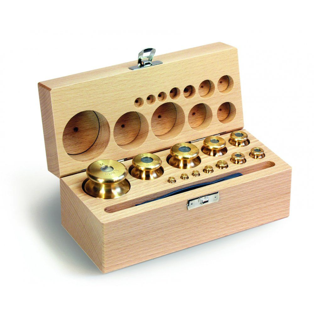 M1 Class Finely Turned Brass Calibration Test Weight Wooden Box Sets