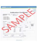 Inscale ISO Calibration Certificate for Force Gauges