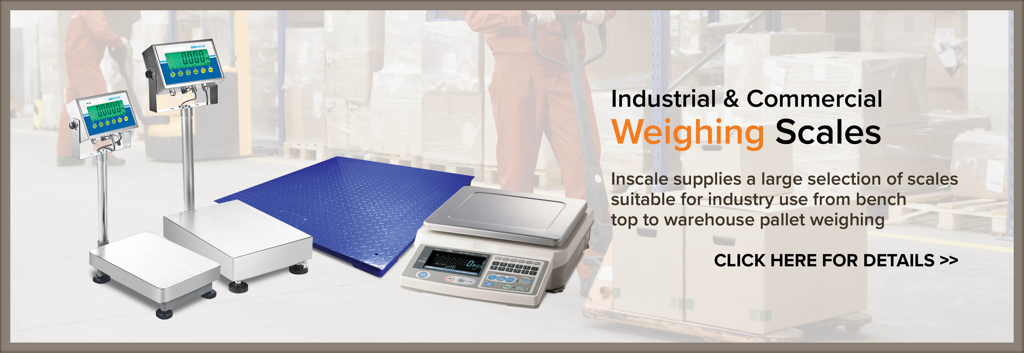 Industrial & Commercial Weighing Scales - Click Here for Details